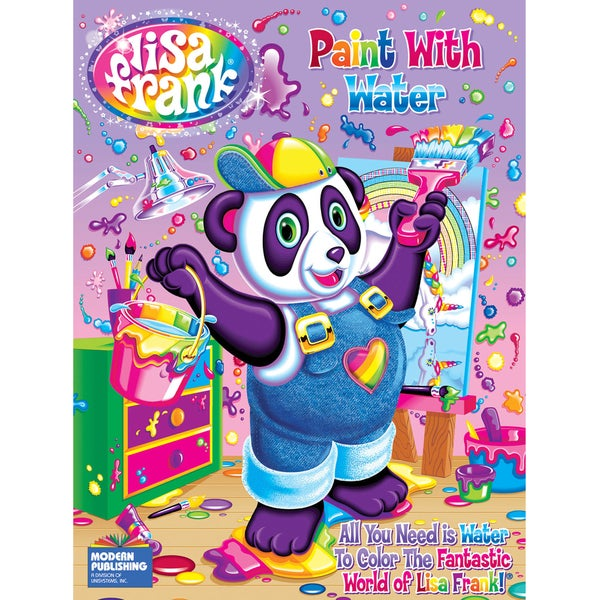 Kappa Publication 115373 Lisa Frank Paint With Water Color Book