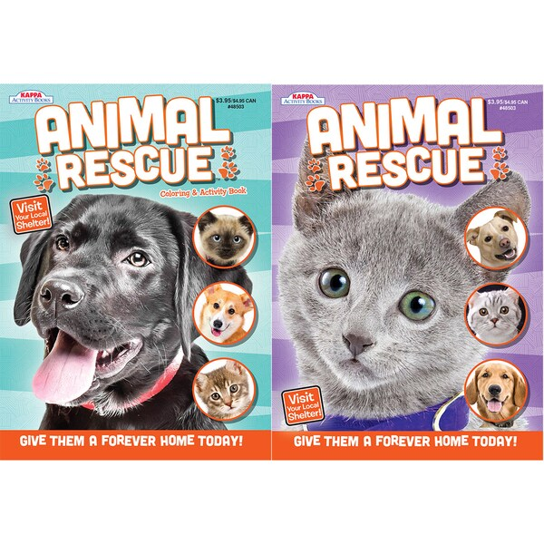 Kappa Publication 148503 Animal Rescue Coloring Book Assorted Styles