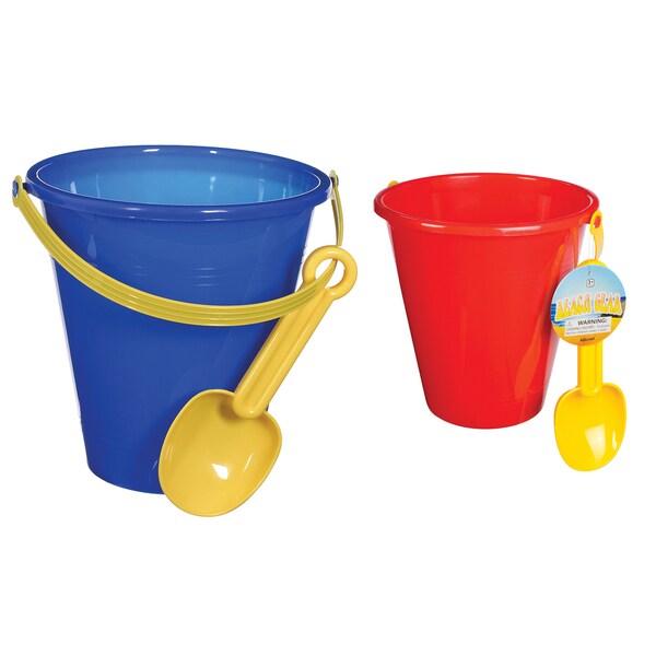Toysmith 02417 Beach Bucket & Shovel Set 2 Piece Assorted Colors