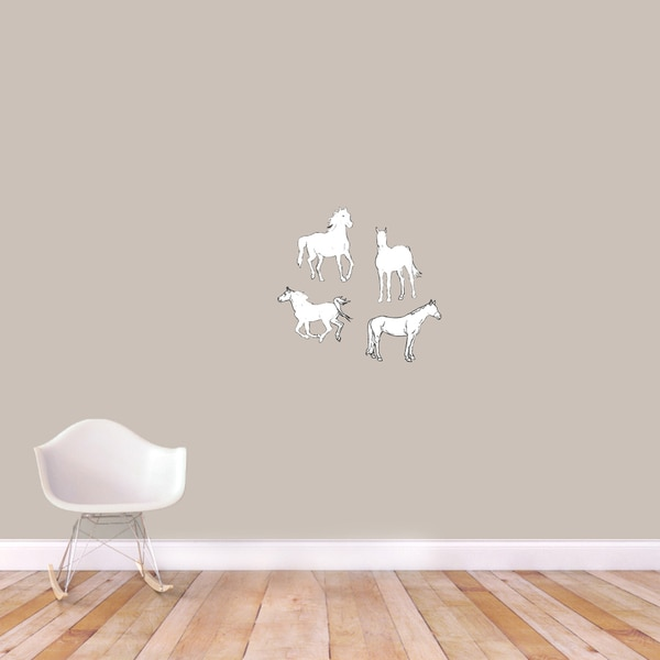 Vintage Horse Printed Wall Decals