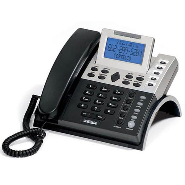Cortelco Black/ Silver 2-Line Caller ID Business Telephone