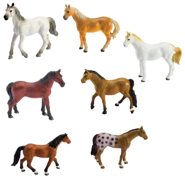 Toysmith 5539 Wild West Clippity Clop Horse Assorted Colors