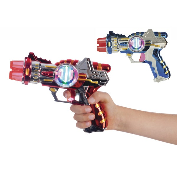 "Toysmith 9480 7"" Mini Space Blaster Toy Assorted Colors"