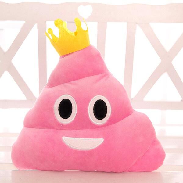 BH Toys Pink Princess Poop Emoji Plush Pillow