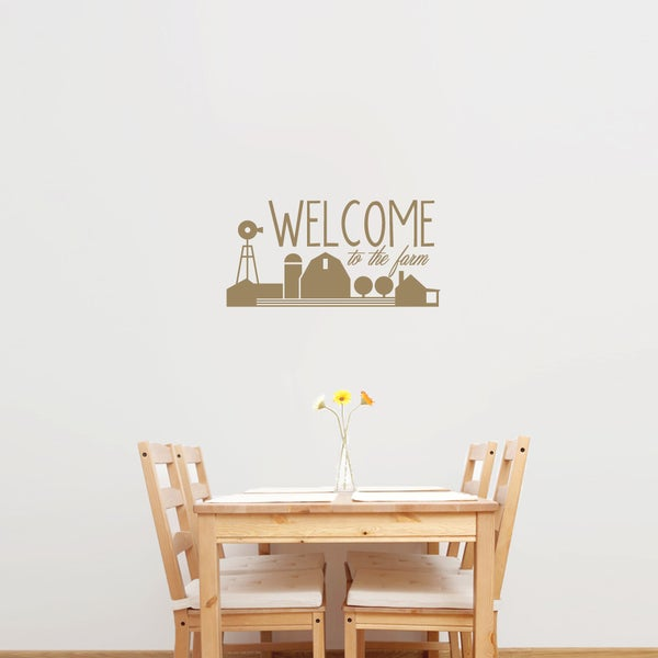 "Welcome To The Farm Wall Decal - 24"" wide x 12"" tall"