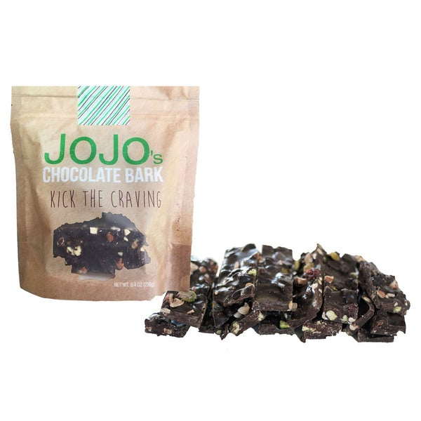 JOJO's Guilt Free 70-percent Dark Chocolate Bark 1.2 oz. Bars, with All Natural Protein Raw Nuts and Dried Cranberries (Count 7)