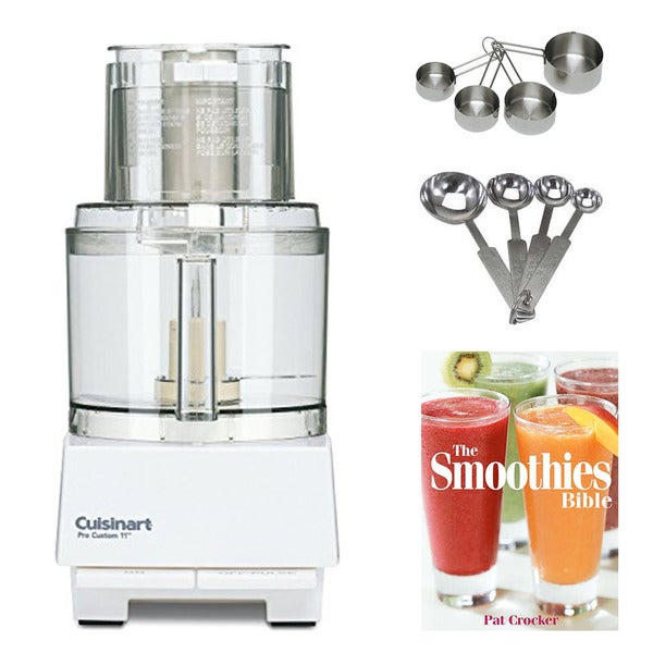 Cuisinart DLC-8S Pro Custom 11-Cup Food Processor w/ Measuring Spoon Set & Measuring Cup Bundle