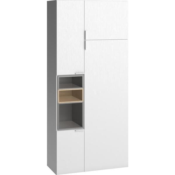 Voelkel 4 You Collection White Pine/Wood Two-door Wardobe