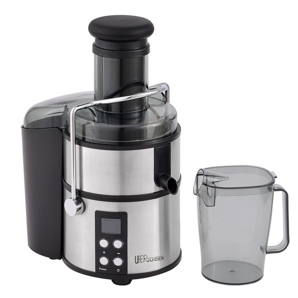 Uber Appliance UB-CJE Uber Juicer Electric Centerfuigal Juice Extractor 800W 4-Speed Digital Display Juicer Stainless Steel