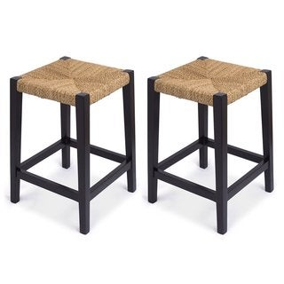 Dhp Nova 24 Inch Metal Mesh Backless Counter Stool Set Of