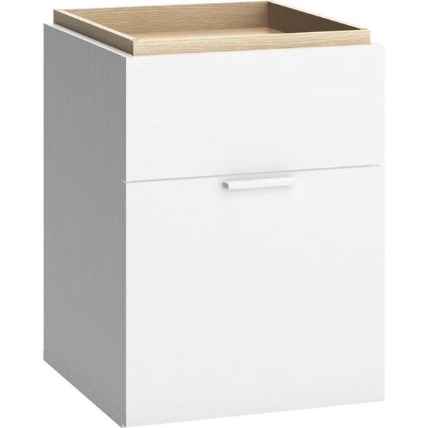Voelkel 4 You Collection White Pine Wood Bedside Table