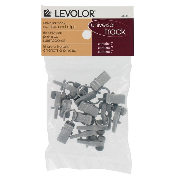 Levolor Silver Carriers With Clips