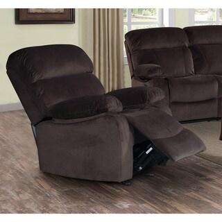 abbyson living camden velvet pushback recliner 14312250 overstock