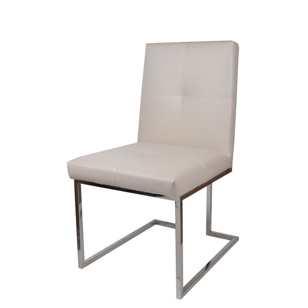 Brighton Cream Fabric Modern Accent Chair