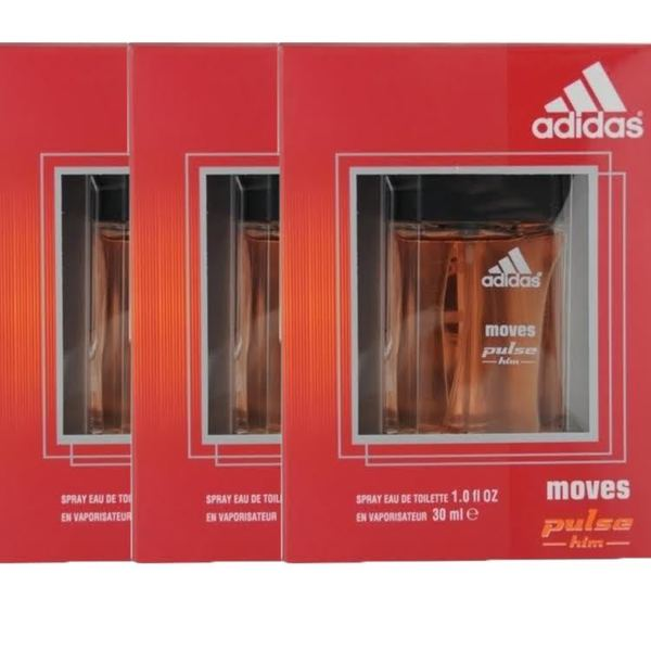 Adidas Moves Pulse Men's 1-ounce Eau de Toilette Spray (Pack of 3)