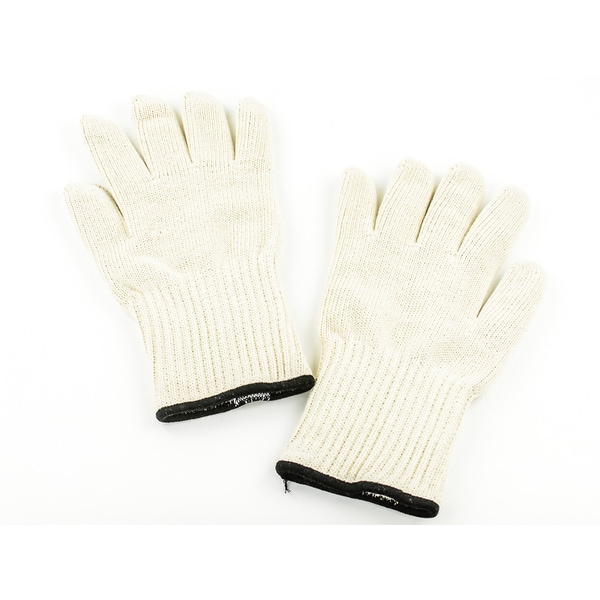 White Thermal Fabric Heat-resistant Thick Deluxe Oven Gloves