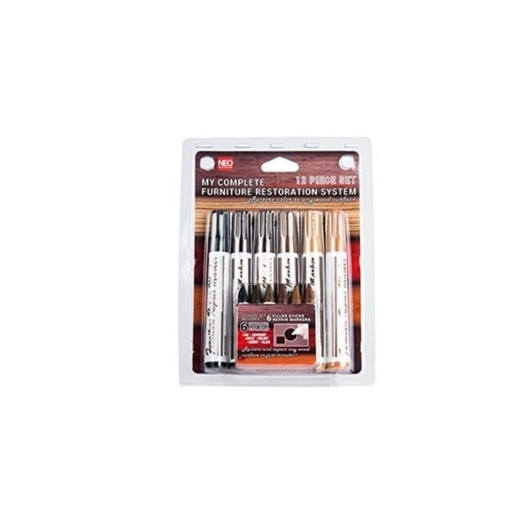 Imperial Home 12-piece Furniture Restoration Wood Stain Markers and Filler Sticks Set