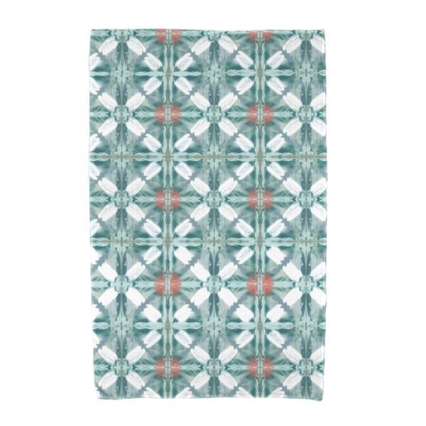 E by Design Beach Tile Geometric Print Beach Towel