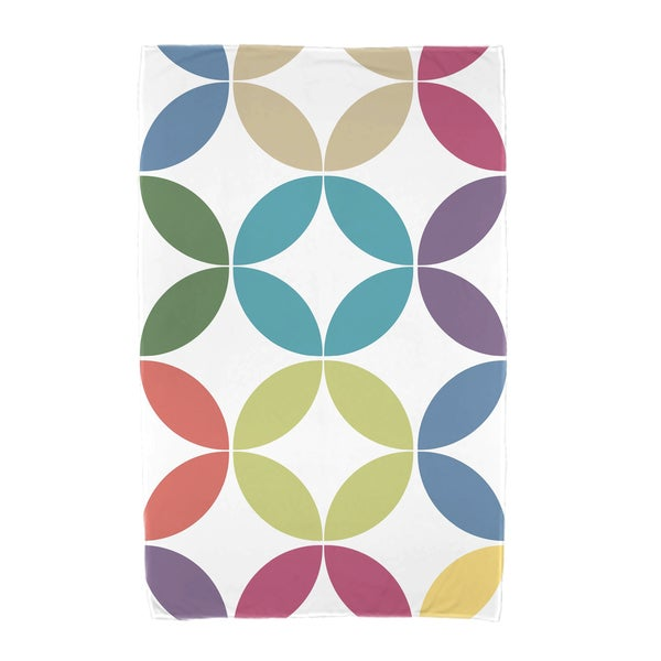 E by Design Eye Opener Geometric Print Beach Towel