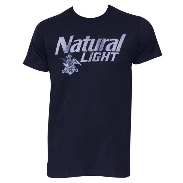 Natural Light Distressed Logo T-Shirt