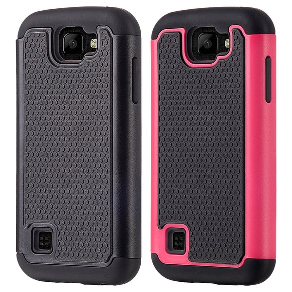 Black TPU/PC LG K3 Grippy Hybrid Case