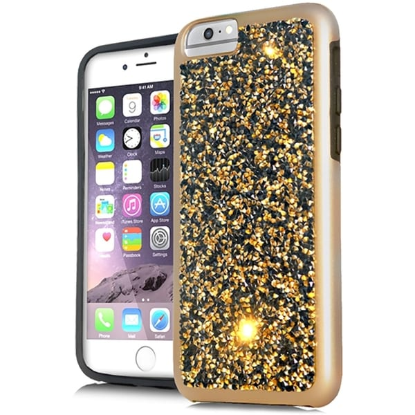 Onyx Gold/Black Crystal Case for XL iPhone 7 Plus