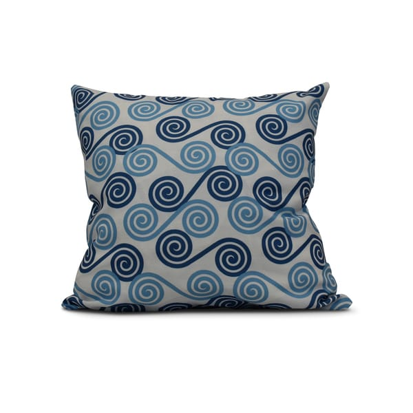E by Design 20-inch Rip Curl Geometric Print Pillow
