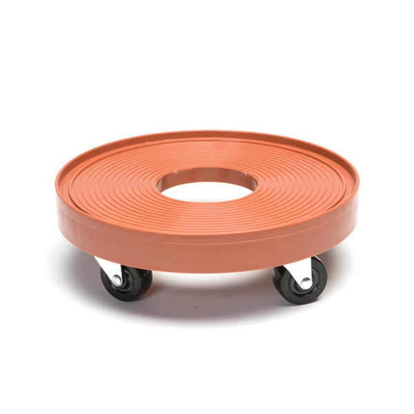 Orange 12-inch Plant Dolly with Hole