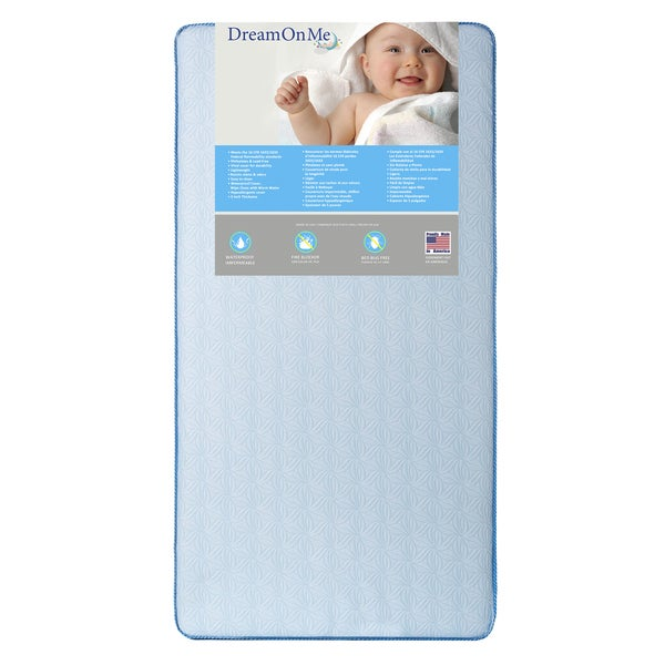 Dream On Me Moonlight 130 Coil Crib and Toddler Mattress