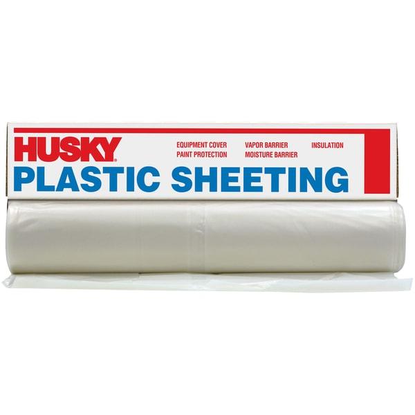 Husky CF0420-50C 20' X 50' 4 ML Tyco Polyethylene Opaque Plastic Sheeting