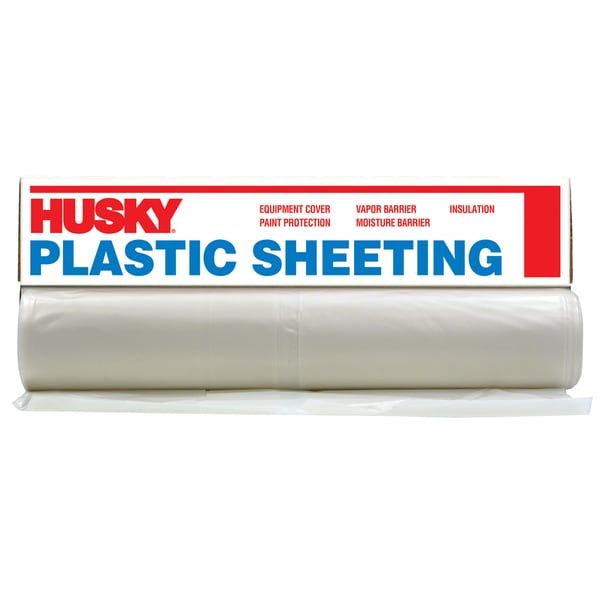 Husky CF0610C 10' X 100' Clear Plastic Sheeting
