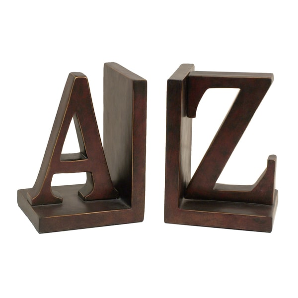 Three Hands Brown Resin Letter Bookends
