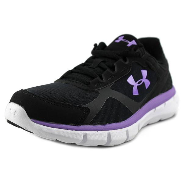 Under Armour Women's 'Micro G Velocity RN' Black Leather Athletic Shoes