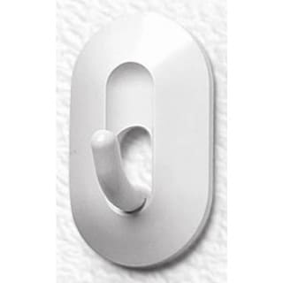 Spectrum Diversified 20500 White Adhesive Classic Hooks 2-count