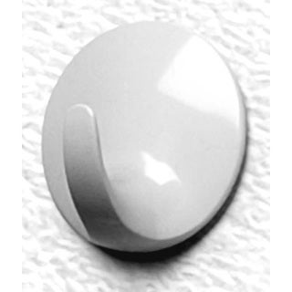 Spectrum Diversified 21300 Large White Round Adhesive Hook