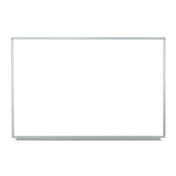 Offex School Office White Aluminum 60-inch x 40-inch Wall-Mounted Magnetic Whiteboard