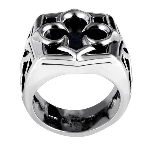 Stephen Webster Sterling Silver Black Mother of Pearl Aces Signet Ring