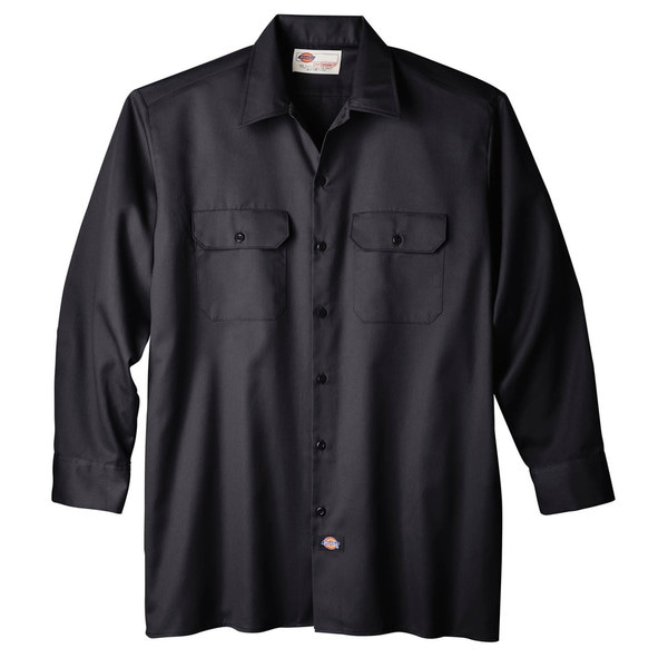 Dickies WL574BK Black Men's Long Sleeve Work Shirt