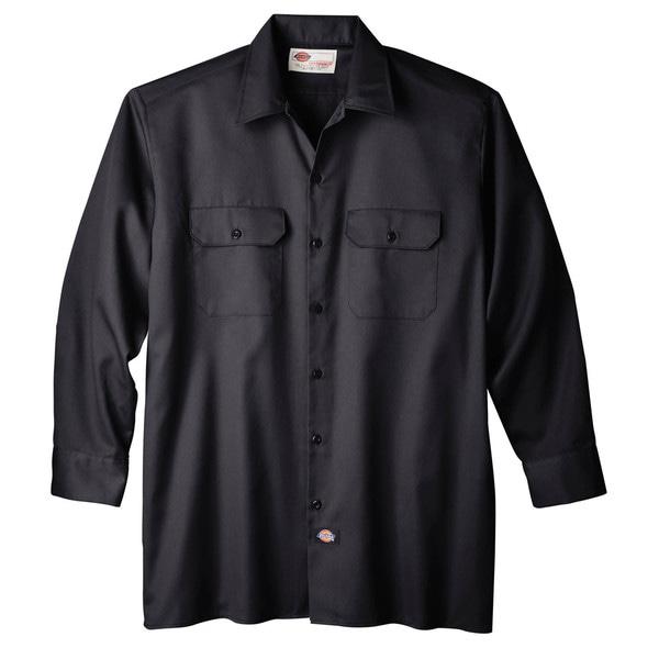 Dickies WL574BK Black Men's Long Sleeve Work Shirt