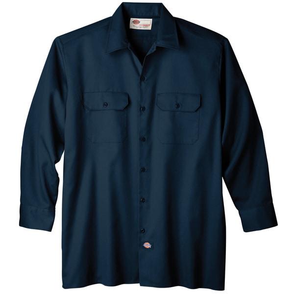 Dickies WL574NV Navy Men's Long Sleeve Work Shirt