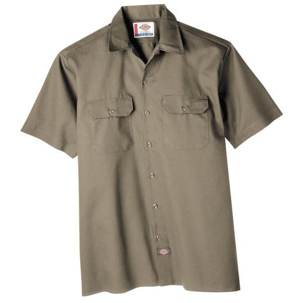 Dickies WS574KH Khaki Men's Short Sleeve Work Shirt