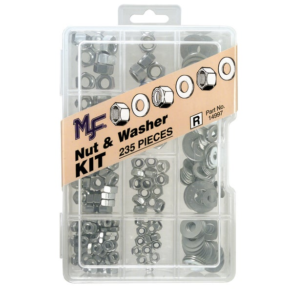 Midwest Fastener 14997 235 pc Nut & Washer Assortment Kit