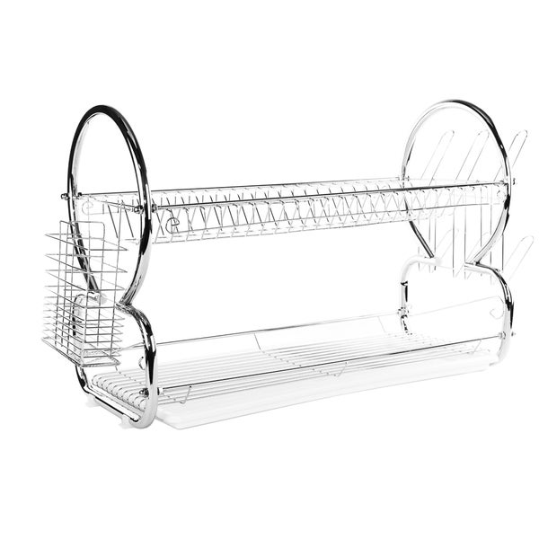 Imperial Home Space Saver Stainless Steel 22-inch 2-tier Dish Drainer/Drying Rack 21264794