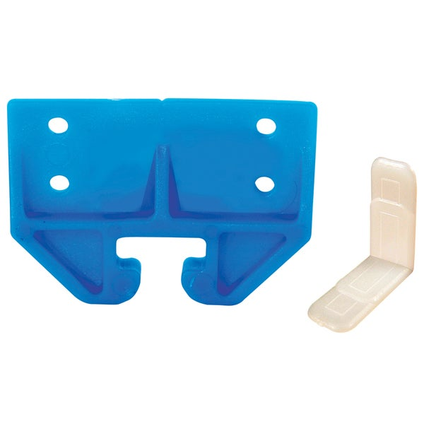 "Prime Line R7083 3/4"" Blue Plastic Drawer Track Guide Kit"