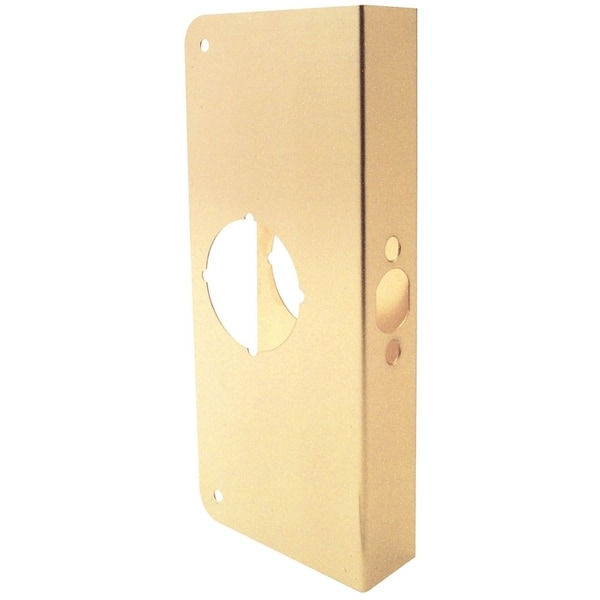 "Prime Line U9556 4"" X 2-3/8"" X 1-3/4"" Brass Door Guard"