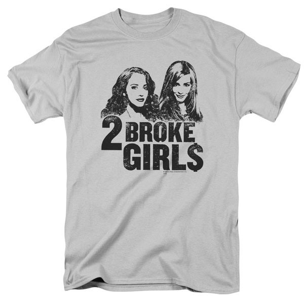 2 Broke Girls/Broke Girls Short Sleeve Adult T-Shirt 18/1 in Silver