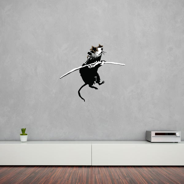 'Acrobat Rat with Shades' Banksy Vinyl Wall Decal, Sticker, Mural Art Home Decor 21267636