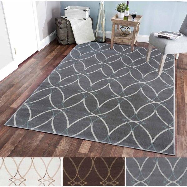 Plaza Brazil Ivory/Grey/Brown Olefin Area Rug (5'3 x 7'3)