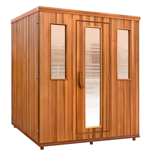 Health Mate Elevated Health Infrared 5 Person Canadian Western Red Cedar Sauna