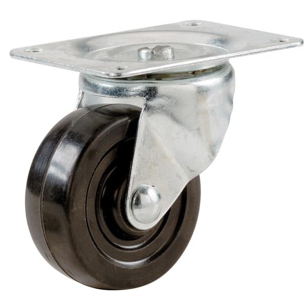 """Shepherd 9480 4"""" Rubber Wheel Swivel Plate Casters"""